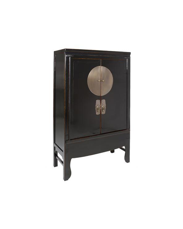 Black cabinet with 2 doors