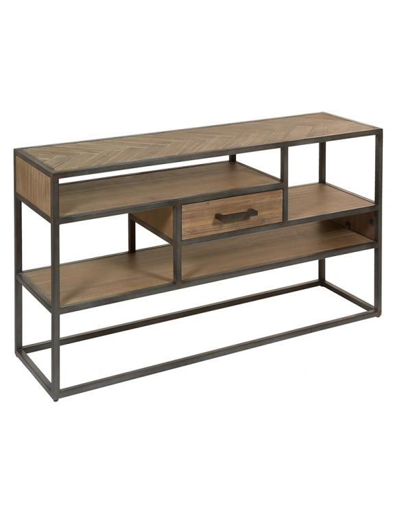 Parquet Console table industrial style